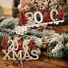 2020 Xmas Wooden Tree Hanging Ornament Christmas Garland Decoration PendantEBAU