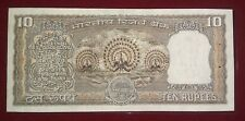 10 rupees note with Fancy 3 peacock Sign by r.n. Malhotra