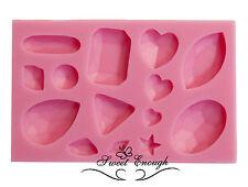 Sugarcraft Mould Sets Gem Diamond Jewel Heart Vintage Buttons Cup cake Isomalt