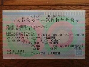 PAUL WELLER 1992 JAPAN Tour Ticket Stub @Fukuoka The Jam Style Council