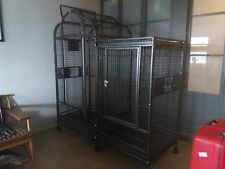 SPLIT LEVEL HOUSE BIRD CAGE WITH DIVIDER