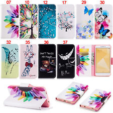 Butterfly Teeth Wallet Leather Flip Case Cover For Xiaomi Redmi Note 4X 5A Mi 6