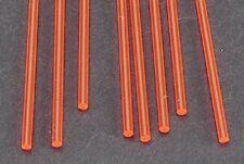 Plastruct 3/32 Red Fluorescent Acrylic Rods (8) 90272