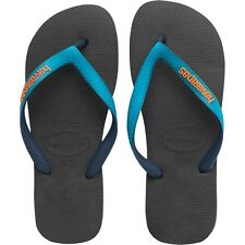Havaianas Top Mix Flip Flops - Black Capri/Blue Size 43/44 UK 9/10