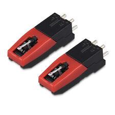 2x Ersatz Tonabnehmer Ersatznadel Plattenspieler Stahl Nadel Tonabnehmersystem