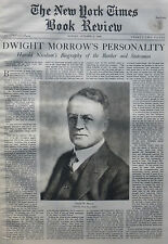 Dwight Morrow - Harlod Nicolson - Banker 1935 October 6 Ny Times Book Review
