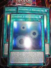 YU-GI-OH! SUPER RARE LUMIERE D'AQUARIUM LOT DE 3 (PLAYSET) DRL2-FR044 MINT NEUF