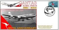 QANTAS AIRLINES 80th ANNIVERSARY COVER, 1960 BOEING 707