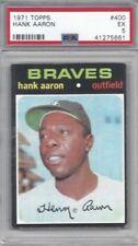 1971 Topps baseball card #400 Hank Aaron, Atlanta Braves graded PSA 5