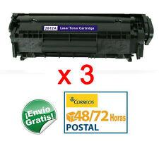 3x Toner HP LaserJet 1010 1012 1015 1020 1022 M1005 3015 M1319F 3050 Q2612A