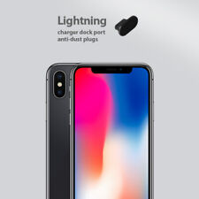 iPhone X Charging Port Cover Lightning Plug Set 3 Pack Anti Dust Silicone Cap