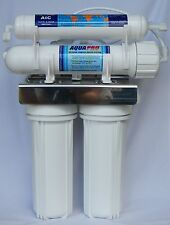 AQUAPRO REVERSE OSMOSIS 4 STAGE UNDER SINK UNIT WITH STORAGE TANK, FILTERS