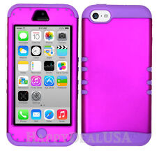 For Apple iPhone 5c - KoolKase Hybrid Shockproof Silicone Cover Case - Purple