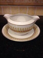 Vintage Royal Thistle Fuji China Gravy Bowl Attached Dish No Chips Cracks