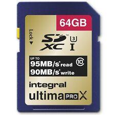 New Integral 64GB UltimaPro X SDXC Memory Card UHS-1 Class 10 U3 - 95MB/s