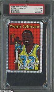 1985 Jewel Prism Magic Johnson Vending Sticker PSA 4 RARE