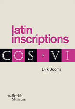Latin Inscriptions by Dirk Booms (Paperback, 2016)