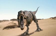 Lámina-Roaring T-rex Dinosaurio (Foto Afiche Jurassic Park Blu-ray Dvd)