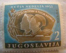 Yugoslavia Stamp 1957 Scott RAJ15 PT17  Children Week Unused