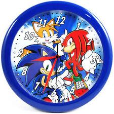 "Sonic The Hedgehog Knuckles 10"" Quartz Wall Mount Clock Childrens Room Decor NEw"