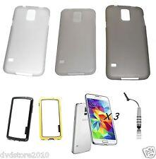 Kit-2 Custodia Slim 0,3 mm Cover Bumper Stylus per Samsung Galaxy S5 G900 I9600