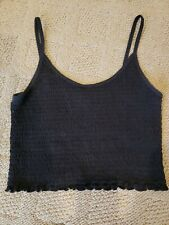 Hollister BLACK Smocked Tank Top Size Small