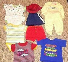 Lot of 10 Boys Clothes 3-6 Months Shorts Shirts Bodysuits Hat PJ's Summer Spring