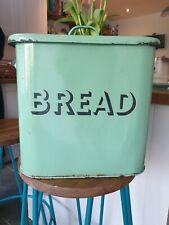 Vintage/Antique Green Enamel Bread Bin
