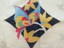 Antique 1930s Pre-Stamped Quilted Boudoir Pillow To Embroider & Quilt Butterfly