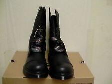 Women's dr martens leather boots biking aimilie black size 5 us new