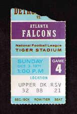 1971 DETROIT LIONS vs ATLANTA FALCONS Ticket Stub