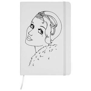 'Art Deco Portrait' A5 Ruled Notebooks / Notepads (NB012555)