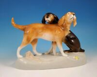 Royal Dux Porcelain  Hunting Dogs