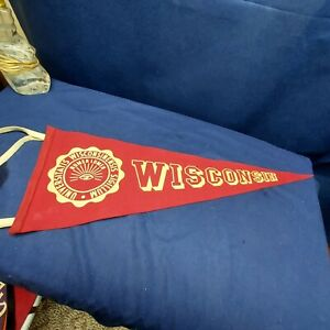 Vintage Felt Sports Pennant for University of Wisconsin by Collegiate  70% Wool