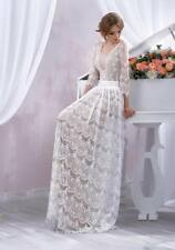 NWOT Sz 10 JN Bridal Wedding Dress Boho Lace