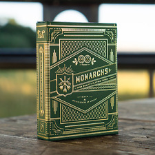Monarch Playing Cards Deck (Green) by Murphy's Magic and Theory 11