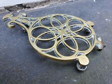 ANTIQUE VICTORIAN EDWARDIAN STYLE CAST BRASS TRIVET STAND