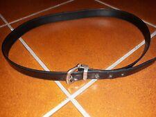Cintura Salvatore Ferragamo uomo in pelle nera cm 110, ORIGINALE