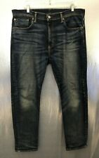 Levi's Mens Sz 36x32 502 Stone Washed Cotton Stretch Tapered Straight Leg Jeans