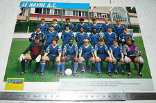 CLIPPING POSTER FOOTBALL 1991-1992 LE HAVRE AC HAC JULES-DESCHASEAUX