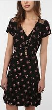 KIMCHI BLUE Urban Outfitters Black Floral Wildflower Dress M ASO Violet Harmon