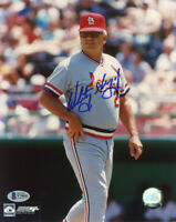 WHITEY HERZOG SIGNED AUTOGRAPHED 8x10 PHOTO ST. LOUIS CARDINALS BECKETT BAS
