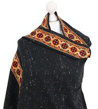 Warm Soft Angora Wool Shawl Indian Embroidered Black Pashmina Shawl Winter Scarf