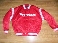 Vtg. Pro Player  Satin Hockey Jacket - DETROIT RED WINGS  !!!