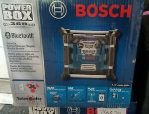 Bosch PB360S 18-Volt Lithium-Ion Power Box Jobsite Radio and Charger New In Box