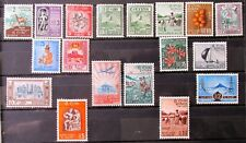 O7 - CEYLON 1958/62 COMPLETE SET OF 17 MINT ON STOCK-CARD