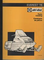 1976 SKI-DOO  EVEREST  SNOWMOBILE PARTS MANUAL 480 1045 00 (012)