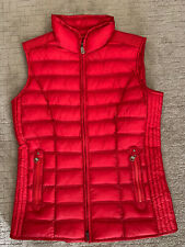 Bogner Women's Down Vest Size Small Red.