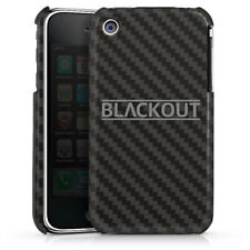 Apple iPhone 3Gs Premium Case Hülle Cover - Carbon - Blackout