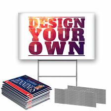 Anley Custom Yard Sign Include Metal Wire H Stake Outdoor Campaign Lawn Board